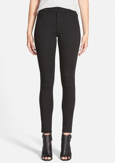 J Brand 'Maria' High Rise Skinny Jeans (Seriously Black)