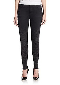 J Brand Maria Studded High-Rise Skinny Jeans
