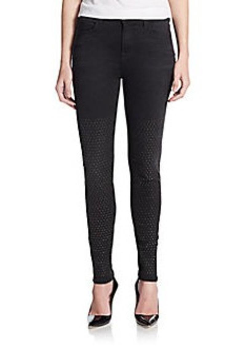 j brand j brand maria studded high rise skinny jeans denim shop it to me. Black Bedroom Furniture Sets. Home Design Ideas