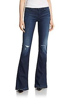 J Brand Martini Distressed Flared Jeans