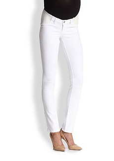 J Brand Maternity Maternity Rail-Straight Jeans/Blanc
