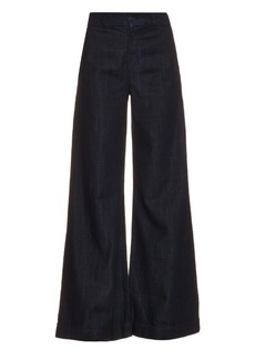 J Brand Melody high-rise wide-leg flared jeans