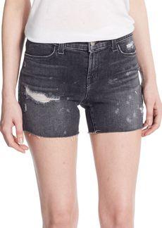 J BRAND Mia Mid-Rise Distressed Denim Shorts