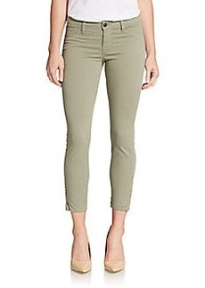 J Brand Mid-Rise Ankle-Zip Capri Jeans