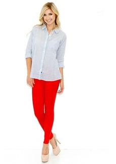 J Brand Mid Rise Coated Super Skinny in Adra Red