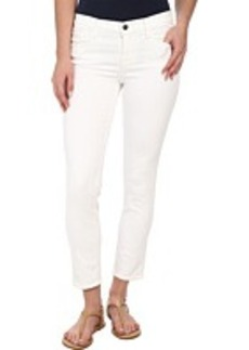 J Brand Mid Rise Crop in Blanc