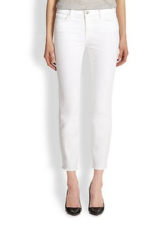 J Brand Mid-Rise Cropped Rail Skinny Jeans