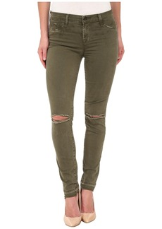 J Brand Mid Rise Destructed Skinny Jeans in Jungle