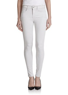 J Brand Mid-Rise Luxe Sateen Skinny Jeans