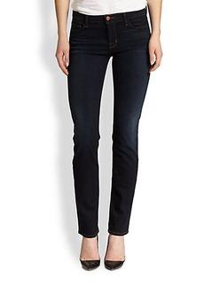 J Brand Mid-Rise Rail Jeans