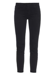 J Brand Mid-rise skinny capri jeans