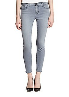 J Brand Mid-Rise Skinny Cropped Jeans