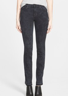 J Brand Mid Rise Skinny Jeans (Black Noise)