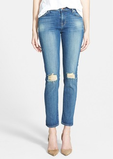 J Brand Mid-Rise Skinny Jeans (Fray)