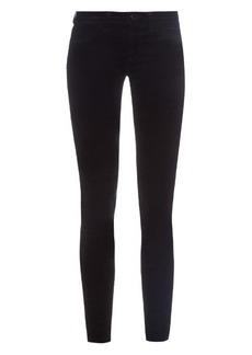 J Brand Mid-rise skinny-leg velvet trousers