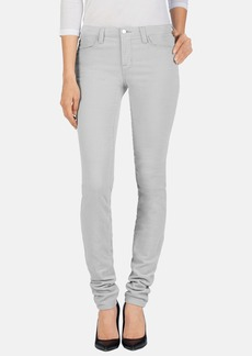 J Brand Mid Rise Stacked Skinny Jeans (Silver Dust)