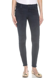 J Brand Mid Rise Suede Pants