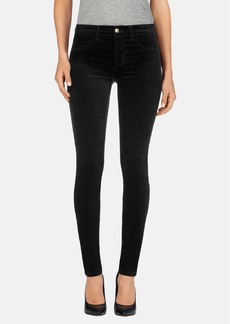 J Brand Mid Rise Super Skinny Jeans (Black Wash)