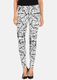 J Brand Mid Rise Super Skinny Jeans (Labyrinth Print)