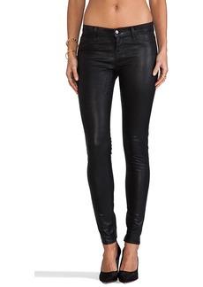 J Brand Midrise Legging in Coated Black