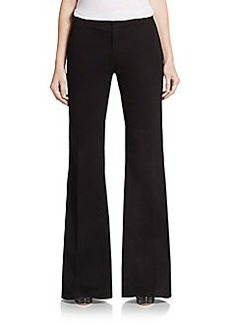 J Brand Mona Wide-Leg Twill Trousers
