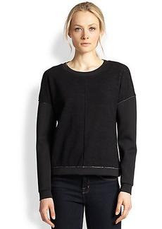 J Brand Montana Fleece & Scuba Sweatshirt