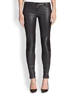 J Brand Nicola Leather Skinny Moto Jeans