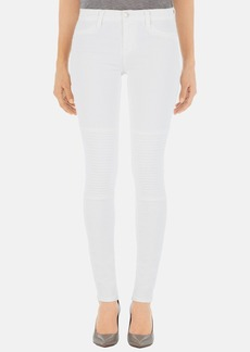 J Brand 'Nicola' Moto Skinny Jeans (Blanc)