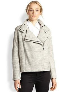 J Brand Pallenberg Oversized Cotton & Wool Moto Jacket