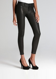 J Brand Pants - Leather Super Skinny in Noir