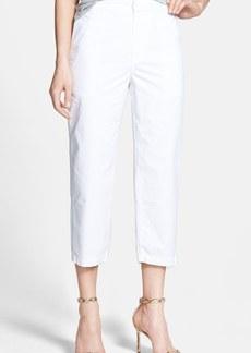 J Brand 'Parker' Crop Straight Leg Twill Pants