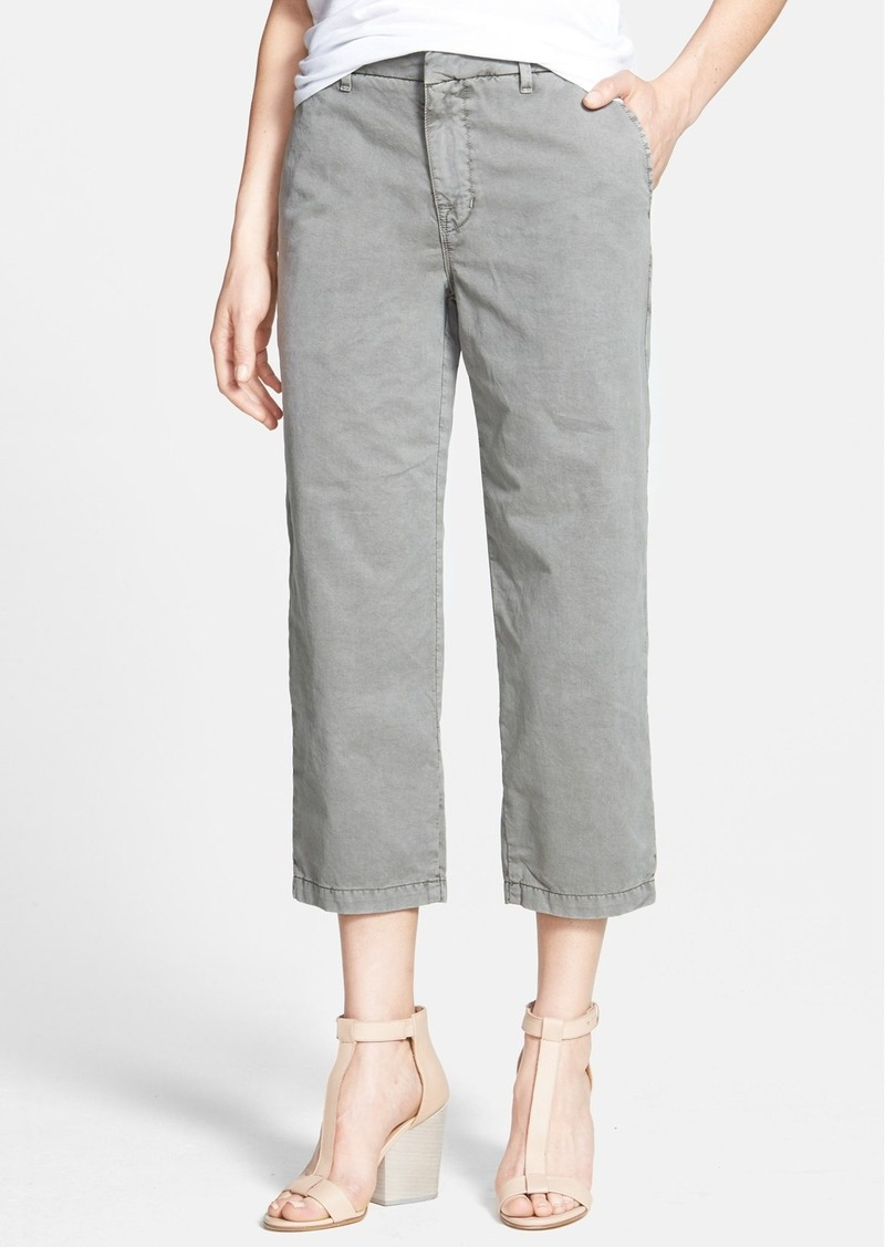 J Brand 'Parker' Crop Straight Leg Twill Pants
