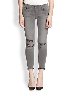 J Brand Photo-Ready Distressed Cropped Skinny Jeans