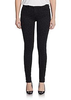 J Brand Printed Mid-Rise Super Skinny Jeans