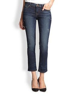 J Brand Rail Cropped Jeans