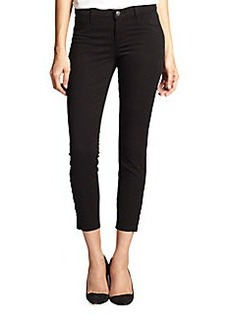 J Brand Rail Mid-Rise Ankle-Zip Capri Jeans