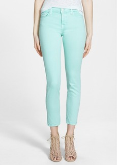 J Brand 'Rail' Mid Rise Super Skinny Jeans (Sea Green)