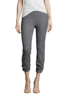 J Brand Ready to Wear Agnes Tapered Sweatshirt Pants, Medium Heather Gray