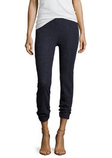 J Brand Ready to Wear Agnes Tapered Sweatshirt Pants, Navy Heather