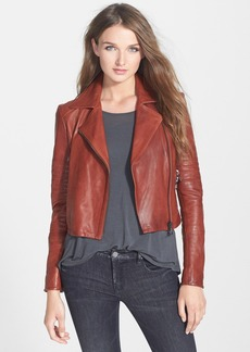 J Brand Ready-To-Wear 'Aiah' Leather Crop Jacket