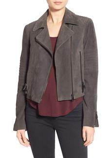 J Brand Ready-To-Wear 'Aiah' Suede Moto Jacket