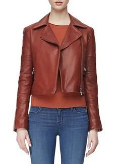 J Brand Ready to Wear Aiah Zip-Front Leather Jacket