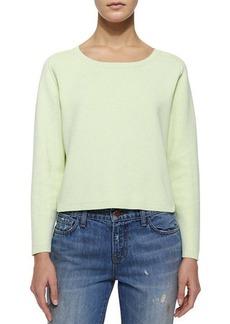 J Brand Ready to Wear Alex Long-Sleeve Stretch-Knit Sweater, Lime