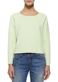 J Brand Ready to Wear Alex Long-Sleeve Stretch-Knit Sweater, Lime