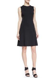 J Brand Ready to Wear Alexa Sleeveless Pleat-Skirt Dress