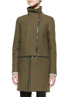 J Brand Ready to Wear Anise Knit Zip-Off Coat
