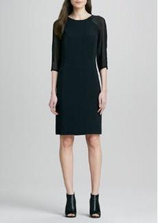 J Brand Ready to Wear Anne Sheer-Sleeve Dress