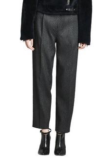 J Brand Ready to Wear Asawa Snake-Jacquard Pants
