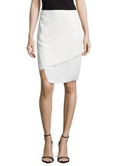 J Brand Ready to Wear Asymmetric Layered Skirt, White