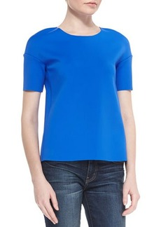 J Brand Ready to Wear Auden Short-Sleeve Knit Top
